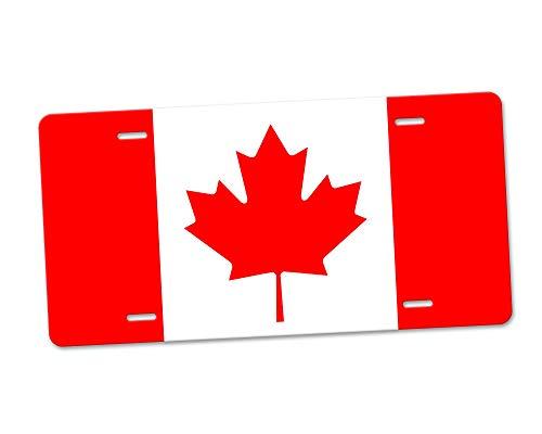 Fhdang Decor Kanada Aluminium-Nummernschild, Front-Kennzeichen, Vanity Tag mit 4 Löchern, Autozubehör, 15,2 x 30,5 cm