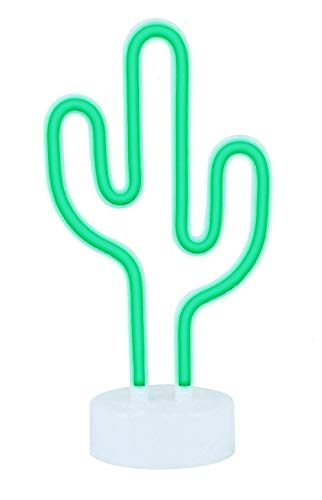 AIZESI Neon Lichter mit Halter Base Neon Mond Licht Neon Nachtlicht Pflanze Lampe Kaktus Leuchtreklame (Cactus-USB)