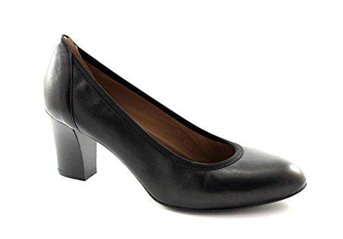 MELLUSO D5095 nero scarpe donna decolletè elasticizzato pelle Nero