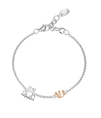 Esprit Kinder-Armband 925 Silber rhodiniert Zirkonia Rundschliff 13,5 cm ESBR91825D135