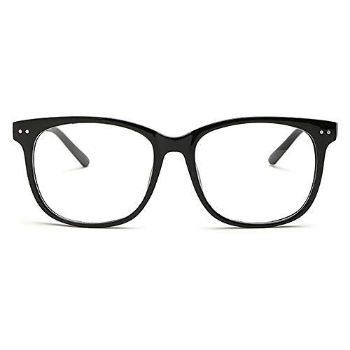 XCYQ Brillengestell Klare Linse Brillen Frames Männer Frauen Transparente Runde Optische Brillen Nerd Eyewear Spectacle, H
