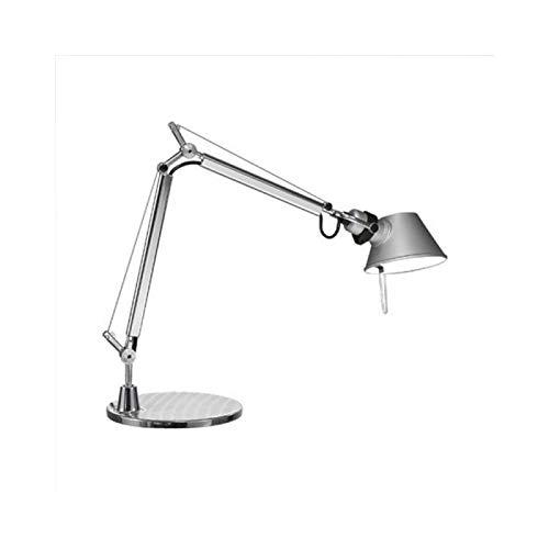 Artemide Tolomeo Micro Tischlampe mit Fuss, Länge 45 Höhe 37 max 73 cm, Aluminium H/l Lampe