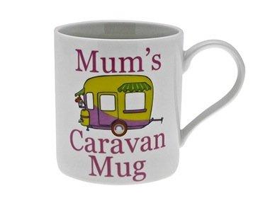 """Leonardo Tasse, Porzellan, Aufschrift: \""""Mum´s Caravan Mug\"""", in Geschenkschachtel"""