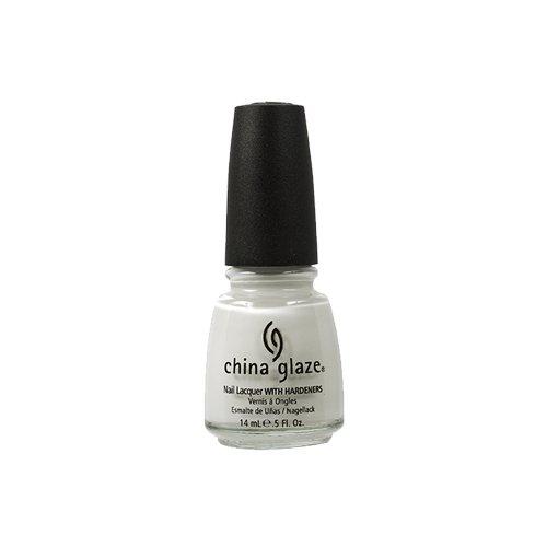 China Glaze Esmalte de uñas con endurecedores - Efecto lacado - En blanco, Paquete 1er (1 x 14 ml)