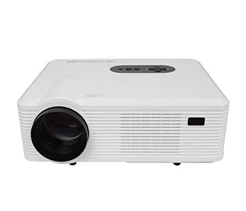 TQTQ CL720 HD LED-Projektor Dual HDMI TV Multi-Interface Kommerziellen Home-Projektor Smart Projektor Büro Tragbare Mikro-Projektion - Tragbaren Video-Projektor,White