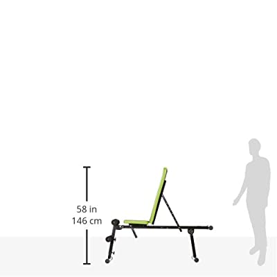 Fitkraft Unisex Weight Bench, Black/Green, Medium from 4Kraft