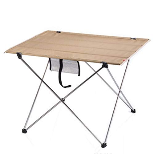 Zhangmeiren Outdoor Camping Aluminum Folding Table And Chair Set Outdoor Table And Chairs Folding Portable (Color : A, Size : 57 * 45 * 38cm)