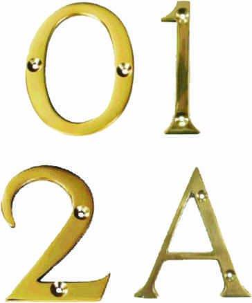 Polished Brass Victorian No 7 Door Number - (3