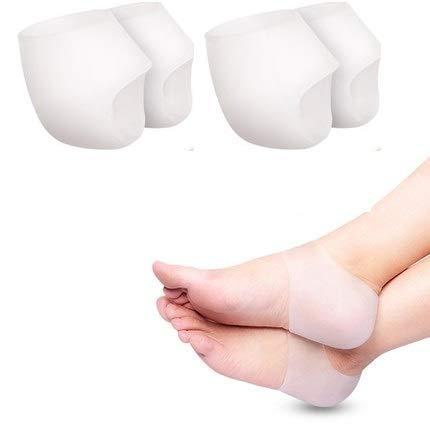 mydio 2Paar Heel Cups, Plantarfasziitis fügt, Gel Ferse Pads Kissen Ferse Schmerzen, heilen trockene rissige Fersen, Achilles Tendinitis, Relief Ferse Schmerzen und Schrunden , für Herren und Damen