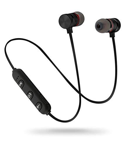 wiles Wireless Sports Bluetooth Magnet Earphone Hand-free Headphone for All Smartphone (Black)
