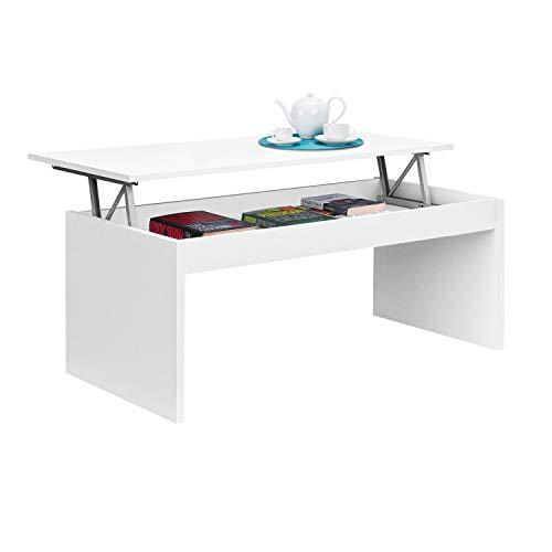 Habitdesign 001638BO - Mesa de centro elevable, mesita mueble salon comedor, modelo...