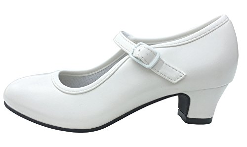 La Senorita Spanische Flamenco Schuhe - Weiß - Größe 24 - Innenmaß 16 cm