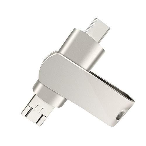 DJSkd USB 3.0-U-Platte aus Metall Portable Compact Große Kapazität DREI-in-Einem-U-Festplatte Computertelefon Dual-Use-Schnittstelle (größe : 3.0 64G)