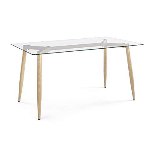 ARREDinITALY Table Design Plateau Verre Rectangulaire 160 x 90