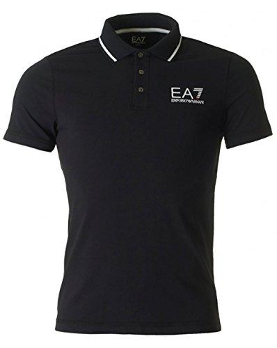 Ea7 Train Core Id Short Sleeved Polo Noir