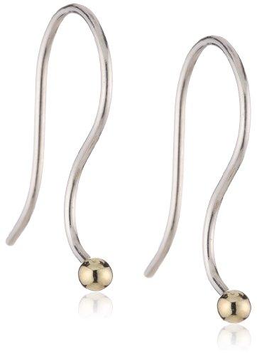 Trollbeads Damen Ohrhaken, Silber/Gold TAGEA-00003