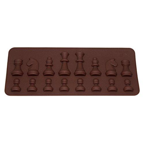 Molde de silicona con forma de ajedrez, para tartas, fondant o pasteles