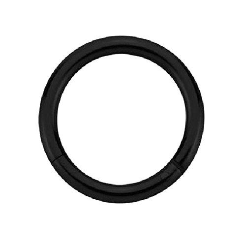 eeddoo Piercing-Ring Segment-Clicker Schwarz Edelstahl 1,2 x 12 mm