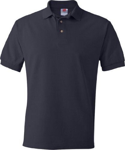 Hanes Herren Comfortblend EcoSmart Jersey Polo Blau - Dunkles Marineblau