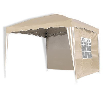 Alu Falt Pavillon, Partyzelt in Beige/Weiß 3 x 3m PO2409