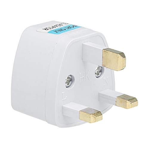 Anschlussstecker (KUNSE 10A 250V Travel Universal Power Outlet Adapter Uk/Us/Eu to Universal Plug Socket Converter-UK Plug)
