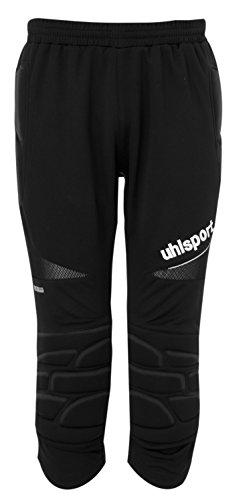 UHLSPORT - ANATOMIC Short Long Gardien - Pantalon Gardien Football - Renfort Hanches et Genoux - Ceinture Elastique - noir - FR : XS (Taille Fabricant : XS)