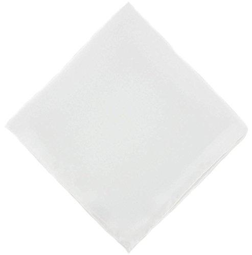 Un mouchoir en soie blanche unie Michelsons