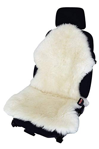 Xljh Auto SitzKissen warme RückenLehne Komfort im Winter lindern Taille Müdigkeit Wolle,White
