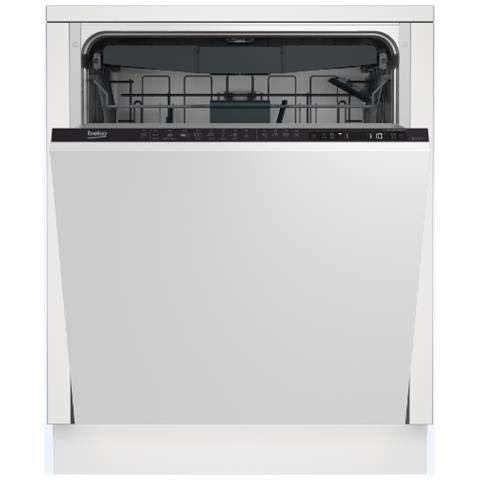 BEKO vollständig integriertes din2843014places A + + + Spülmaschine-Geschirrspülmaschinen (komplett integriert, weiß, Full Size (60cm), LCD, 14Sitzer, 44dB)