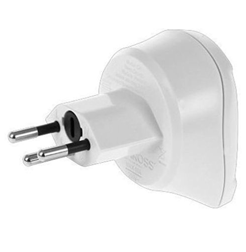 Stromadapter Schuko Stecker / Schweiz, 2-und 3-Pol, weiß, SKROSS®