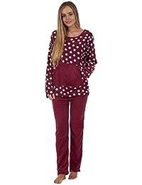 6799f586c9 Anna Klein Ladies Stunning Printed Fleece Pyjama Set Womens PJ s Winter Warm  Nightwear