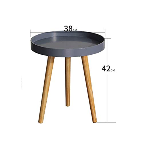 HYLH Side Tables,Tables Coffee Tables Round Side Tables Modern End Tables Occasional Tea Tables Nesting Tables for Balcony and Living Room Set (Color : Small disc Gray) - Moderne Nesting Table