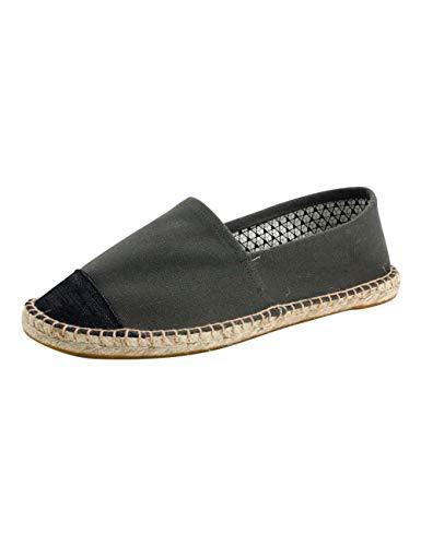 SPDYCESS Herren Sommer Segeltuch Schuhe Klassisch Schlüpfen Espadrilles Beiläufig Stil - Faule Schuhe Flache Espadrilles Walking Müßiggänger -