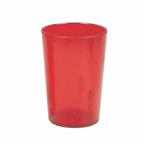 her Becher, für Restaurant, Lunchroom, Cafeteria, Bar, 12Stück, plastik, rot, 9 1/2 oz ()