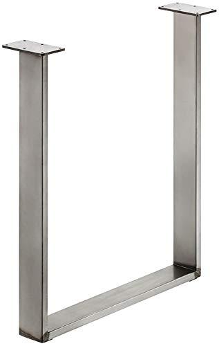 GedoTec Stahl-Tischkufe Tischgestell zum Anschrauben | Tragkraft 150 kg | Metall Rohstahl lackiert...