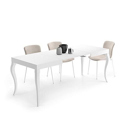 Mobili Fiver, Mesa Extensible Classico, Blanco Mate
