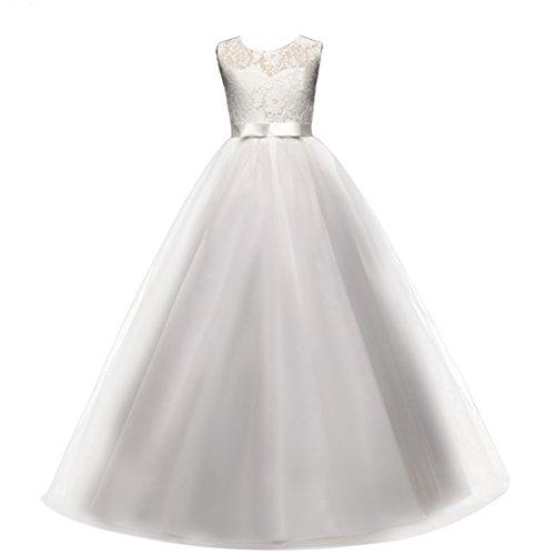 432e956d9 Princesa Vestido de niña de Flores para la Boda Vestidos de Dama De Honor  Sin Mangas