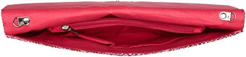 SwankySwans Damen Korie Glitzer Umschlag Party Ball Clutch Kupplung Pink (Fuschia)