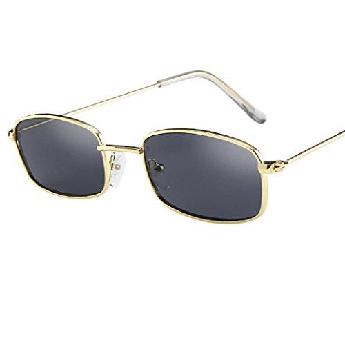 Unisex Sonnenbrille,OYSOHE Neueste Weinlese Glas Frauen Mann Quadrat Schatten kleine rechteckige Rahmen Sonnenbrille