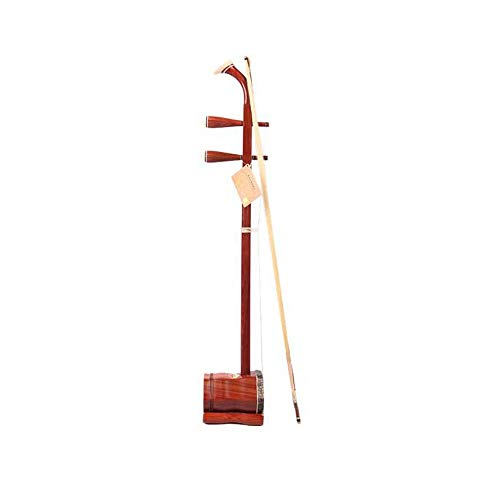 Qiyuezhuangshi01 Erhu, lobulären rotes Sandelholz Professionelle Erhu Musikinstrument Anfänger Erwachsene Kinder Professionelle Spiele Grading General (Senden Sie eine ganze Reihe von Zubehör) Nationa