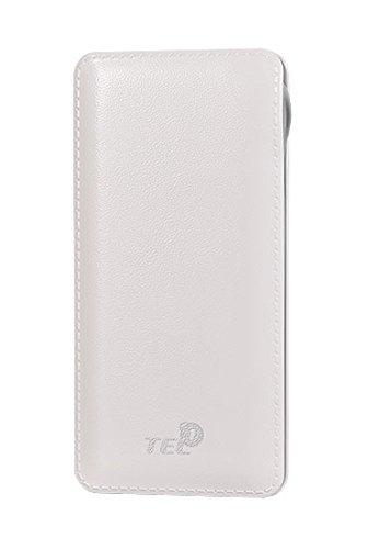 Slim Powerbank mit starken 12000 mAh in Weiß für Wiko Lenny 5 extra flach und handlich kompakt externer Akku aufladen von Smartphone Tablet und Netbook möglich