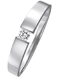 CHRIST Diamonds Diamantring Damen-Ring 585er Gold (gelbgold/roségold/weißgold) 1 Brillant ca. 0,08 ct. (weißgold)