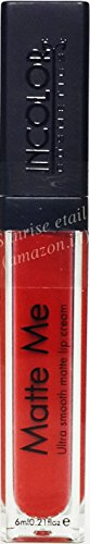 Incolor Matte Me 407 Ultra Smooth Lip Cream-Rioja Red/Hot Red