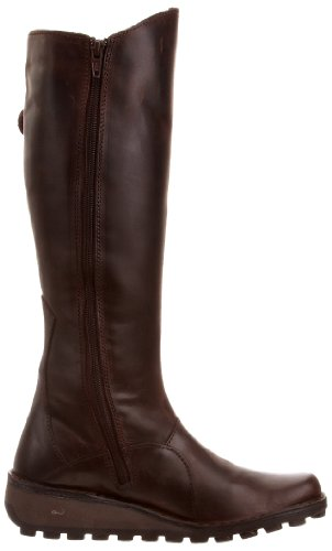 Fly London Damen Mol Leather Stiefel Braun (Dkbrown 046)