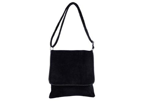 scarlet bijoux - Umhängetasche schwarz H 28 x B 25 x T 6 cm (Abend Tasche Schwarze)