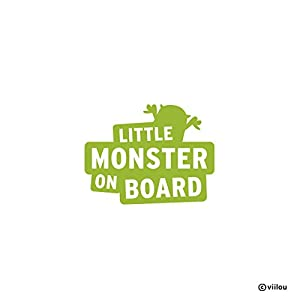 Auto Aufkleber baby on board LITTLE MONSTER ON BOARD Sticker