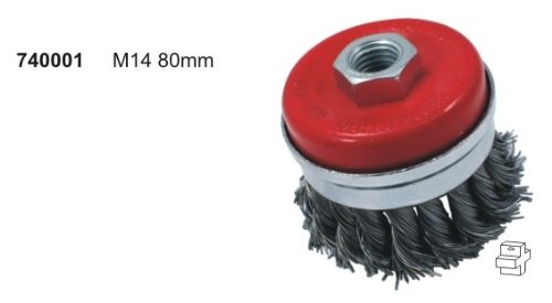 Z372 brosse brosse pot 80 mm m14 pour topfdrahtbürste v2–flex