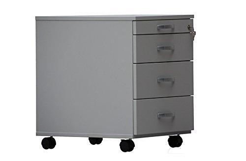 Dila GmbH Rollcontainer mit 3 Schubladen und Materialauszug (Buche)