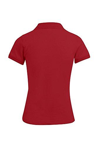 Polo femme classique rouge feu