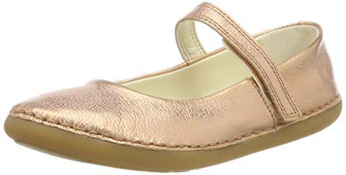 Clarks Mädchen Skylark Tap K Geschlossene Ballerinas, Silber (Bronze Metallic), 35 EU